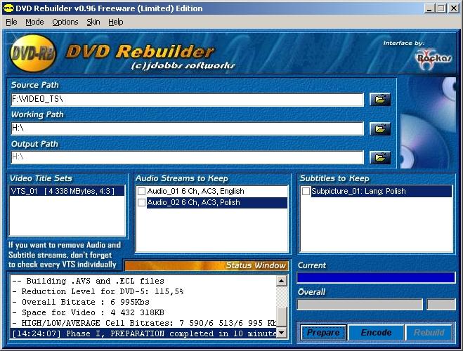dvd rebuilder pro скачать: