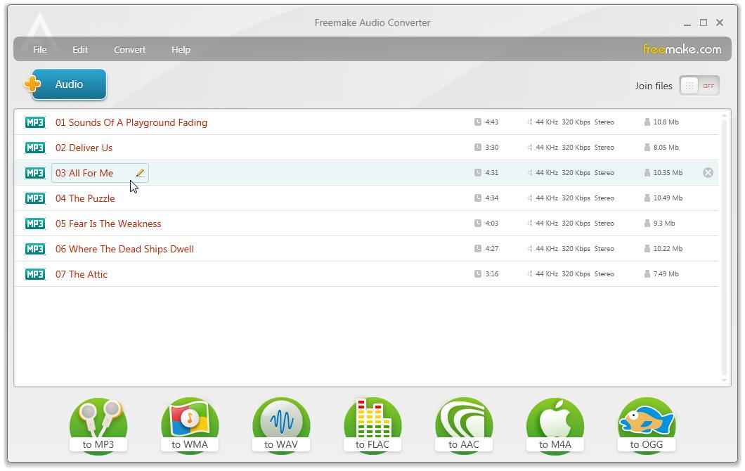 Freemake Audio Converter 1.1.0.39