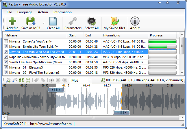 Kastor Free Audio Extractor 1.5