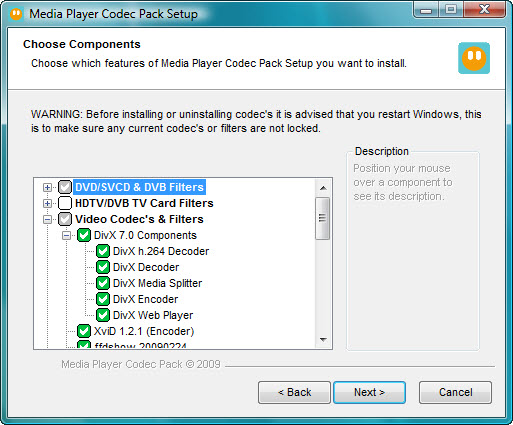 Media Player Codec Pack 4.2.5